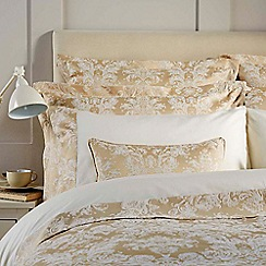 Christy - Gold 'Serena' 200 thread count polycotton jacquard square pillowcases