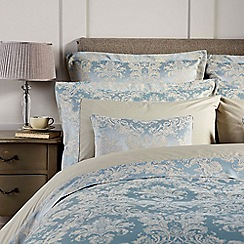 Christy - Duck Egg 'Serena' 200 thread count polycotton jacquard cushion