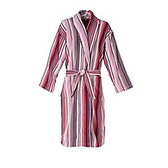 Christy - Berry 'Capsule Stripe' Robe