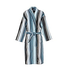 Christy - Aqua 'Capsule Stripe' Robe