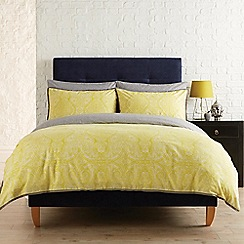 Christy - Chartreuse 'Ezra' duvet cover and pillow case