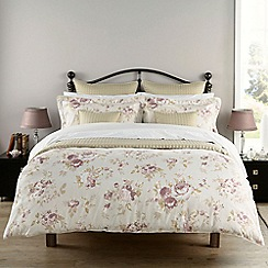 Christy - Pink 'Vintage Rose' 230 Thread Count Cotton Sateen Bedding Set