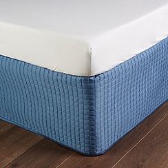 Christy - Slate Blue 'Metropolitan' 300 Thread Count Cotton Valance Sheet