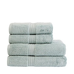 Christy - Light blue 'Plush' egyptian cotton towels