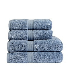 Christy - Pale blue 'Plush' stonewash towels