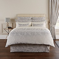 Christy - Silver Grey 'Palermo' duvet set