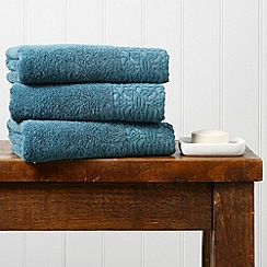 Christy - Blue 'Agadir' 550gsm cotton jacquard towel
