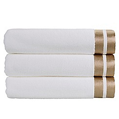 Christy - White gold 'Mode' 600gsm cotton plain dyed towel