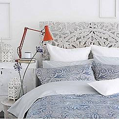 Christy - Denim 'Escape' 200 Thread Count Batik Effect Jacquard Bedding Set