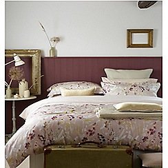 Christy - Blush 'Meadow' 200 Thread Count Cotton Sateen Bedding Set