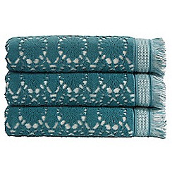 Christy - Blue 'Casablanca'600gsm cotton jacquard towel