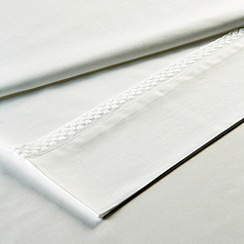 Christy - White 'Penny' 300 Thread Count Cotton Sateen Flat sheet