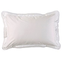 Christy - White 'Penny' 300 Thread Count Cotton Sateen Standard Pillow Case Pair