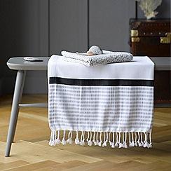 Christy - White 'Maroc' 210gsm cotton hammam beach towel
