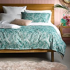 Christy - Green 'Rainforest' 200 Thread Count Cotton Jacquard Bedding Set