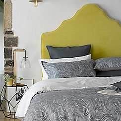 Christy - Monochrome 'Rainforest' 200 Thread Count Cotton Jacquard Bedding Set