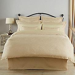 Christy - Champagne 'Avalon' 200 Thread Count Polyester Jacquard Duvet Set