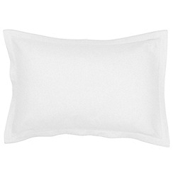 Christy - White 'Belgian Linen' Oxford pillowcase pair