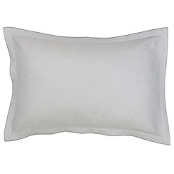 Christy - Silver 'Belgian Linen' Oxford pillowcase pair