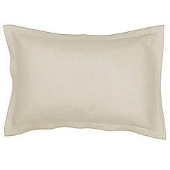 Christy - Limestone 'Belgian Linen' Oxford pillowcase pair