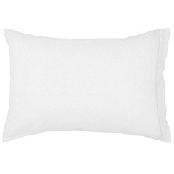 Christy - White 'Belgian Linen' standard pillowcase pair