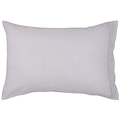 Christy - Silver 'Belgian Linen' standard pillowcase pair