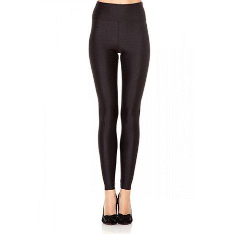 Quiz - Black Shiny High Waist Disco Leggings