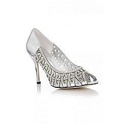 Quiz - Silver Diamante Court Shoes