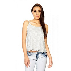 Quiz - Cream Lace Cami Vest Top