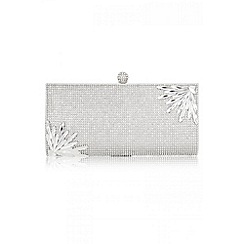 Quiz - Silver Diamante And Jewel Clutch Bag