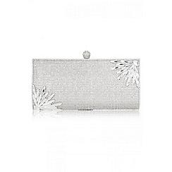 Quiz - Silver Diamante And Jewel Clutch Bag