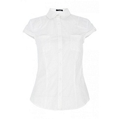 Quiz - White 2 Pocket Shirt