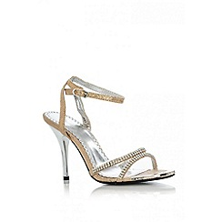 Quiz - Gold Diamante Snake Sandals