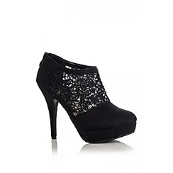 Quiz - Black lace shoe boots