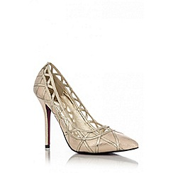Quiz - Gold Cut Out Pointed Toe Courts