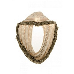 Quiz - Cream faux fur edge snood