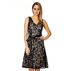 Quiz - Black Glitter Embellished Dress