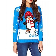 Blue Novelty Christmas Jumper - Debenhams