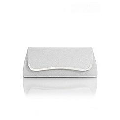 Quiz - Silver Sparkle Shimmer Clutch