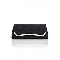 Quiz - Black Sparkle Shimmer Clutch