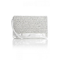 Quiz - Silver facet clutch bag
