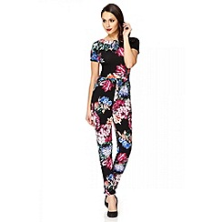 Quiz - Multi colour flower crepe jumpsuit