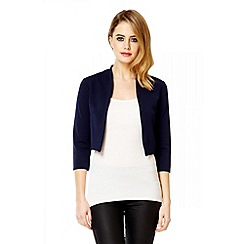 Quiz - Navy 3/4 sleeve crop jacket