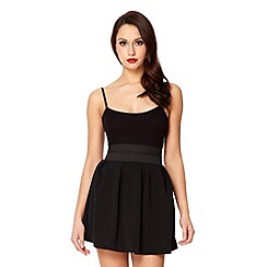 Quiz - Black marcella pleated skirt