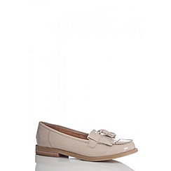 Quiz - Nude Patent Loafers