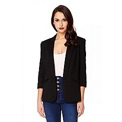 Quiz - Black 3/4 sleeve blazer