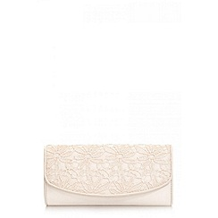 Quiz - Beige lace clutch bag