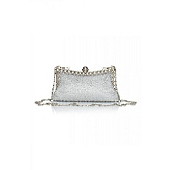 Quiz - Silver diamante trim purse bag