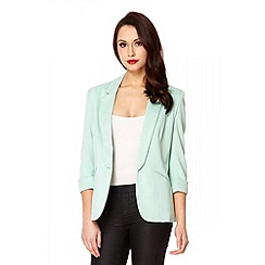 Quiz - Mint 3/4 Sleeve Blazer