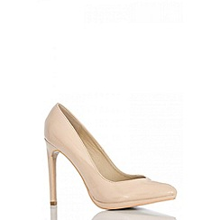 Quiz - Nude PU pointed courts